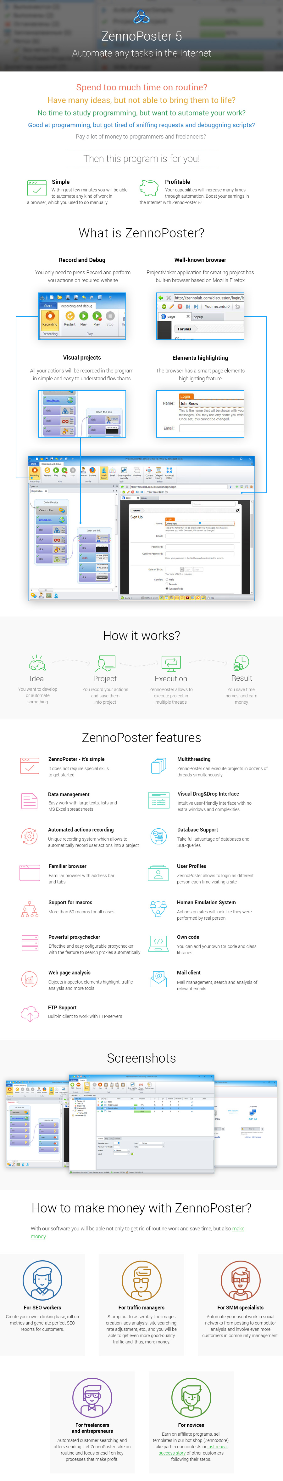 ZennoPoster 5 - Automate any task in the Internet